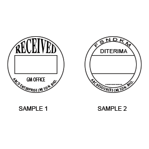 Date stamp dia 42mm